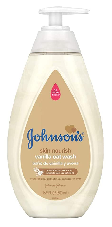 Johnsons Baby Wash Vanilla Oat 16.9 Ounce (500ml)