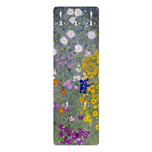 Garderobe Garderoben-Paneele Wandmontage Gustav Klimt Bauerngarten 139 x 46cm