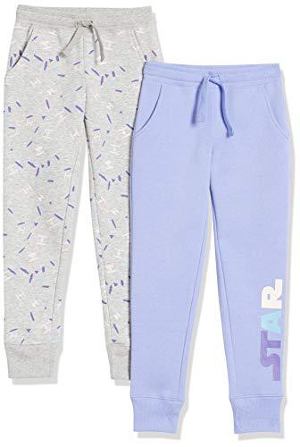 Spotted Zebra Disney Marvel Frozen Princess Fleece Jogger Sweatpants pants, 2er-Pack Star Wars Multi Logo, XXL (EU 158 CM)