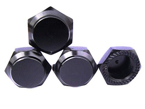 hobbysoul RC 1/8 17mm Aluminium Radmuttern Gewinde 1.0mm Schwarz für Losi, XRay, Kyosho, Hot Bodies, Mugen, Associated 1:8 RC Fahrzeug Modell