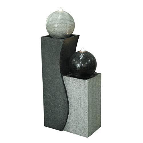 Zen'Light SCFRG1958 Großer Brunnen, Polyresin, Schwarz und Weiß, 42 x 24 x 94 cm