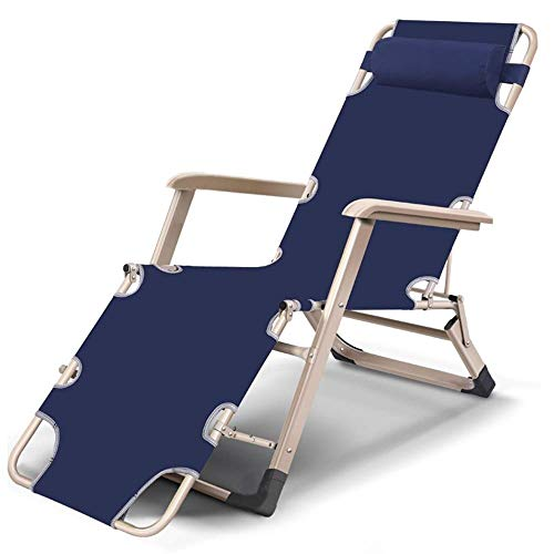 OESFL Reclining Outdoor Folding Chairs Lounge Chair Anti-Rollover Zero Gravity Recline Multi-Angle Adjustment Summer Chairs/Removable Headrest/Suitable for Home Office/Bearing 661 Pounds