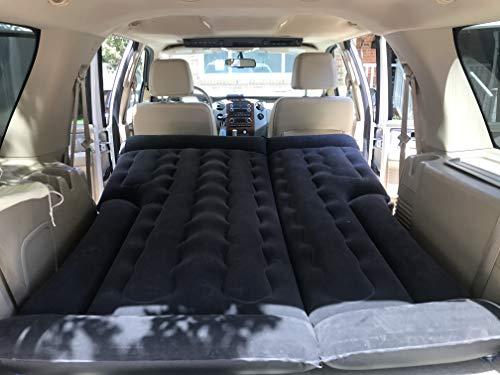 SUV Air Mattress - MultiFit Vehicle Design - SUV/Minivan/Tent - Car Lighter Air Pump - Inflate/Deflate Quickly - Two Bonus Pillows - Comfortable Travel