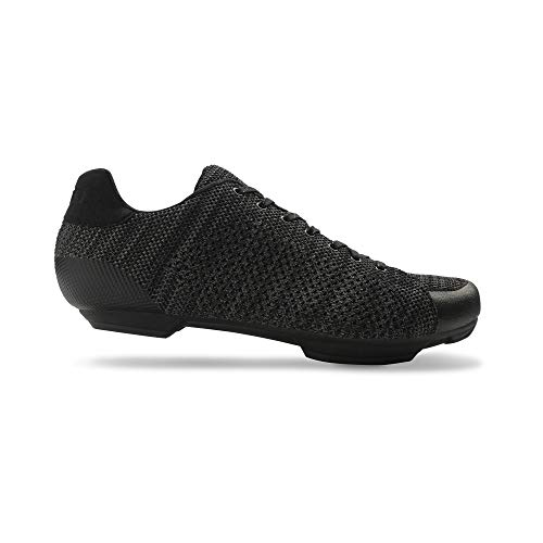 Giro Republic R Knit Road, Scarpe da Ciclismo Uomo, Multicolore (Black/Charcoal Heather 000), 37 EU