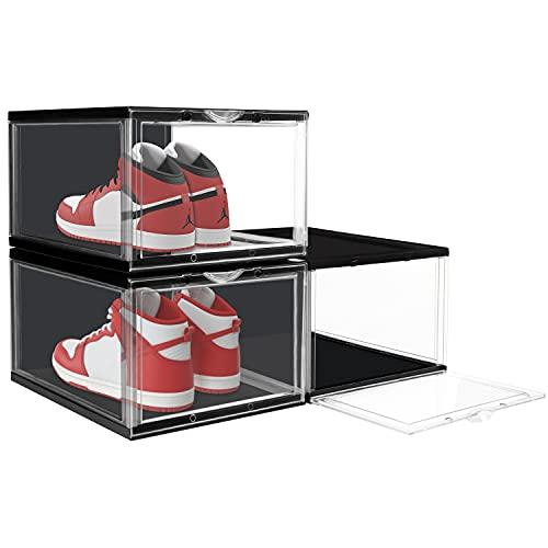 Belle Vous Cajas Zapatos Transparentes (Pack de 3) Organizador de Zapatos Plástico...