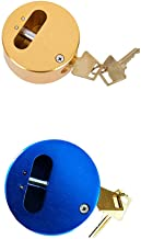 Stalen hangslot slotkern alle koperen anti-shear container trailer lock color alumina ijs hockey slot-Blauw + geel