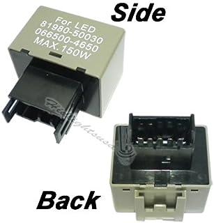 GP-THUNDER.NET LED Flasher Relay Subaru 2008-2015 wrx Toyota GP-Xtreme Electronic Flasher Relay Fix For LED Turn Signal Light Bulbs Lexus 8-Pin 81980