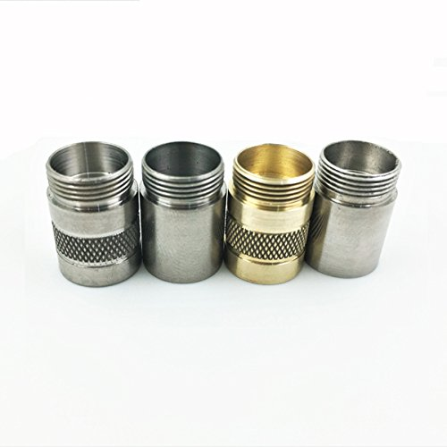 Flashlight Accessories - Body Accessories - DQG Hobi 10180 Titanium/SS/Brass Extension Tube (Incomplete Hole) - (Color: Brass)