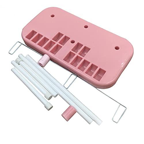 Máquina de Hilo de Coser Rack Spool Soporte Soporte de Rosca Bordado Hilo Soporte Soporte Soporte Pink Máquina de Coser Accesorio