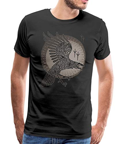 Raven Celtic Knotwork Men's Premium T-Shirt, 4XL, Black