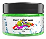Hair Paint Wax A Splash Of Color - Green (120 Gram) | Environmentally Friendly Temporary Unisex Natural Hair Paint | Easy To Use and Suitable For Most Hair Types