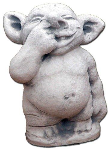 gartendekoparadies.de Lustiger XXL Riesen Troll mit Finger in Nase aus Steinguss, frostfest