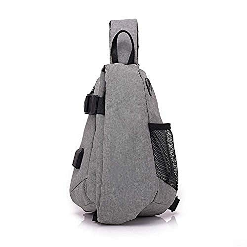 Waterroof Backpack for Outdoor Hiking Camping Travel 2L Chest Bag Gym Fitness Sports Exquisite Appearance/Gray/As Shown