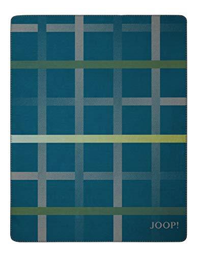 Joop! Wohndecke Square Baumwollmischung Petrol Größe 150x200 cm
