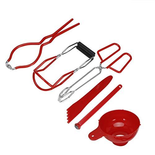Redxiao~ 【𝐅𝐫𝐮𝐡𝐥𝐢𝐧𝐠 𝐕𝐞𝐫𝐤𝐚𝐮𝐟 𝐆𝐞𝐬𝐜𝐡𝐞𝐧𝐤】 Canning Kit, müheloser, Leichter, langlebiger Mehrzweck-Deckelheber, für Einmachwerkzeuge für Küchenzubehör im Heimrestaurant(red)