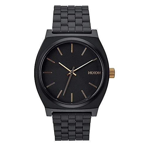 Nixon Time Teller - Reloj (Reloj de pulsera, Unisex, Acero inoxidable, Negro, Acero inoxidable, Negro)