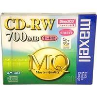 マクセル CD-RW 700MB 1-4倍速 DirectCDフォーマット済 7mm厚ケース CDRWD80MQ.1P
