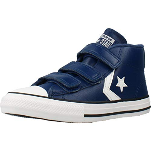 Converse Unisex-Kinder Star Player 3V Sneakers, Mehrfarbig (Navy/Mason Blue/Vintage White 426), 33 EU