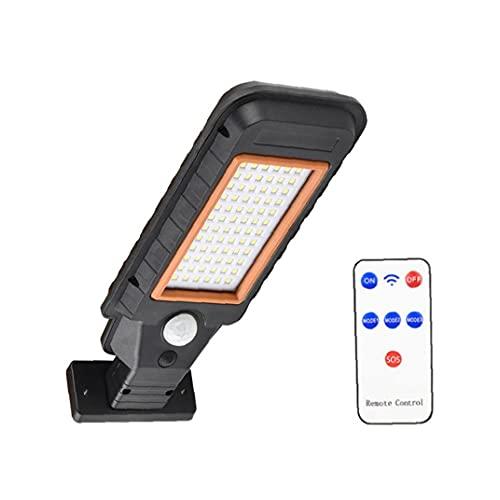 TOPofly Luz del Sensor Solar, lámpara de Pared LED Lámpara de jardín a Prueba de Agua con Control Remoto de inducción para jardín al Aire Libre Patio 72LED Decoración de Hoom