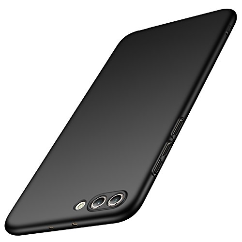 Huawei Honor View 10 Hülle, Huawei Honor V10 Hülle, Anccer [Serie Matte] Elastische Schockabsorption & Ultra Thin Design (Glattes Schwarzes)