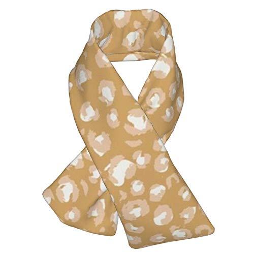 Mittelgroßer Butternut-Schal mit Leopardenmuster, Flanell-Halstuch, doppelseitig, weich, warm, für den Winter, für Outdoor-Aktivitäten