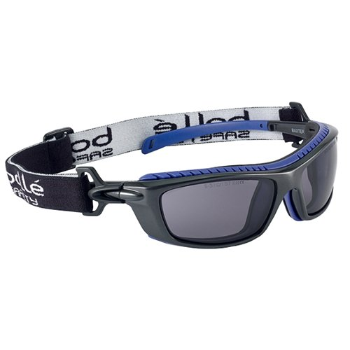 'Bollé–Gafas protectoras Baxter, 1unidad, talla única, negro/azul.