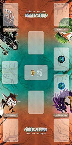Game Factory- Claim - Alfombra de Juegos para Cartas (Neopreno, 60 x 30 cm) (646275)