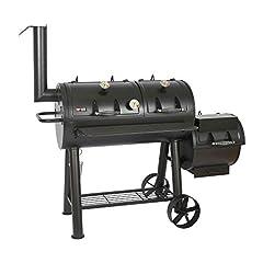 Mayer Barbecue RAUCHA 20 inch Longhorn Smoker MS-600 Master Smoker Grill Cart XXL, 4950 cm2 Grill gebied, Solide, 129 kg, Zwart*