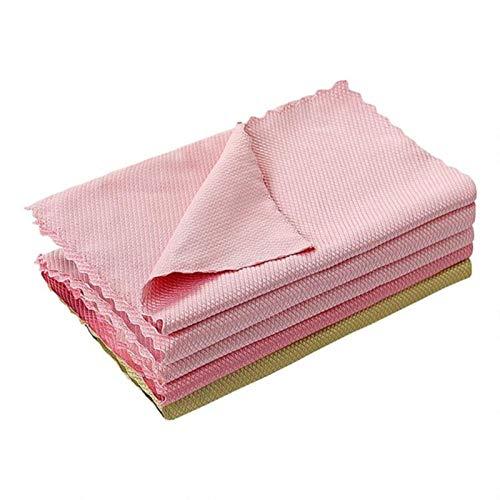 10 toallitas de limpieza antigrasa para escamas de pescado, lavado de vidrio, sin dejar rastros, toalla, utensilios de cocina, 25 x 25, China, 5 unidades