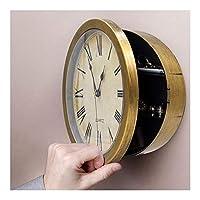➤ 【Funktion】: Der perfekte Ort, um Ihre Wertsachen zu verstecken ist in dem Geheimfach hinter dieser Uhr. ➤ 【Leistung】: Es enthält drei Regale Geschichte Ihre Wertsachen oder sogar mehr Geld. ➤ 【Vorteil】: Keine Verriegelung, aber ein unsichtbares sic...