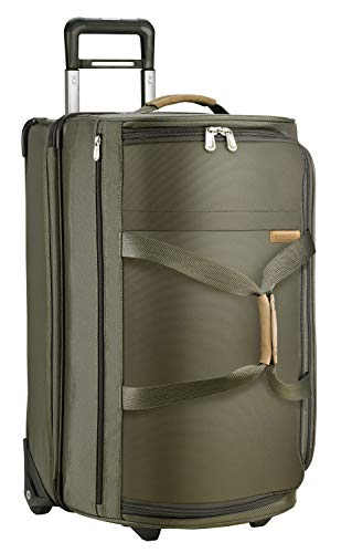 Briggs & Riley Baseline-Softside Medium Upright Rolling Duffle Bag, Olive, 27-Inch