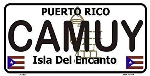Dom576son License Plate Frame, CAMUY Puerto Rico State Background License Plate Aluminum Metal Sign 6' x 12' License Sign