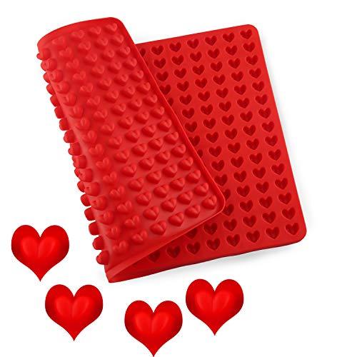 Moldes de Repostería de Silicona en Forma de Corazón, Pastel Antiadherente 255 Corazones Moldes de silicona para dulces y...