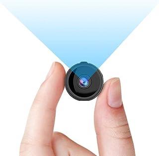 RIRGI Mini Camara Espía Oculta con WiFi Remota con Detector de Movimiento IR Visión Nocturna Camaras de Seguridad Pequeña para Interior/Exterior (Negro)