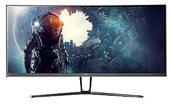 Monoprice 35in Zero-G Curved Ultrawide Gaming Monitor - 21 9 1800R UWQHD 3440x1440p 100Hz  120Hz OC  4ms AMD FreeSync HDMI DisplayPort VA
