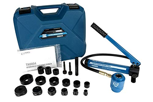 TEMCo Hydraulic Knockout Punch TH0004 - Electrical Conduit Hole Cutter Set KO Tool Kit 5 YEAR WARRANTY