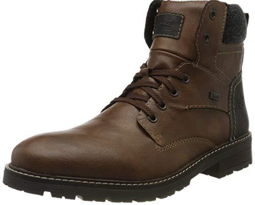 Rieker Herren 32031 Klassische Stiefel, Braun (Toffee/Schwarz/Granit 25), 43 EU