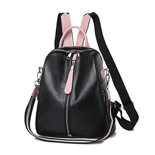 VICTOEFashion Mochila Casual antirrobo para Mujer de Calidad Retro Color sólido Mochila Juvenil de Gran Capacidad Mochila de Viaje, Negro (Negro) - VICTOE-6255