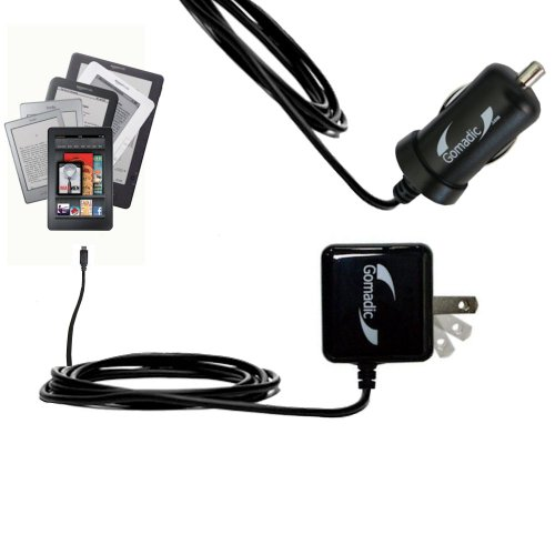 Gomadic Essential Kit for The Amazon Kindle All Models Including The Fire/HD/HDX/DX/Touch/Keyboard (WiFi and 3G) Includes a Car and Wall Charger