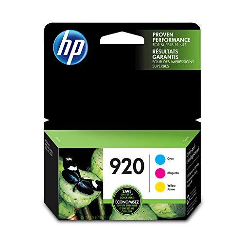 HP 920   3 Ink Cartridges   Cyan, Magenta, Yellow   Works with HP OfficeJet 6000, 6500, 7000, 7500   CH634AN, CH635AN, CH636AN