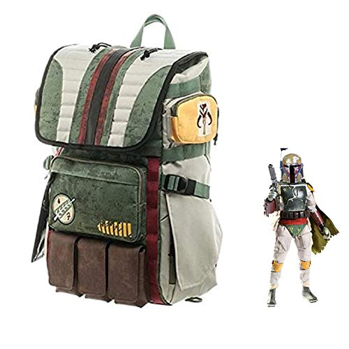 Coslive Boba Fett mochila de viaje casual bolsa de escuela, accesorio para cosplay para actividades al aire libre