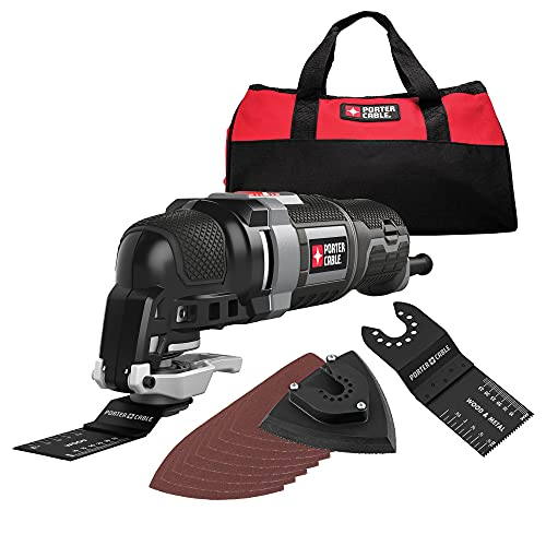 PORTER-CABLE Oscillating Multi-Tool Kit, 3.0-Amp, 11-Piece, Corded (PCE606K)