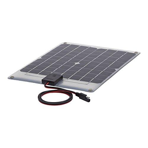 Biard Pannello Solare Semi Flessibile Fotovoltaico 10W - Monocristallino - per Ricaricare Batterie di 12V - Ideale per Camper, Nautica e Caravan - Finitura Colore Argento