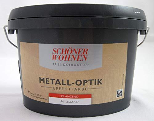 Schöner Wohnen 1 L. Metall-Optik Effektfarbe Blassgold glänzend, für ca. 10 m²