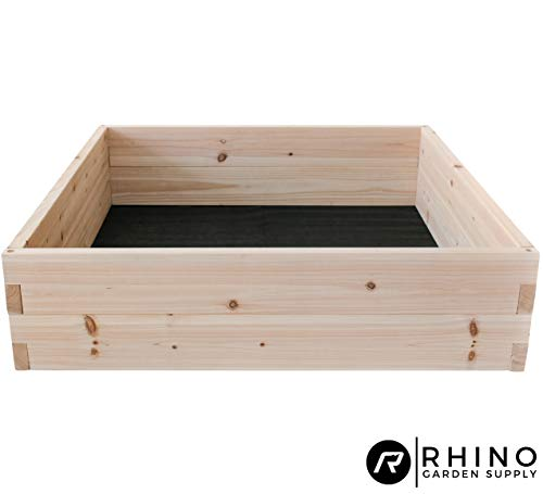 Cedar Raised Garden Bed Kit (48' x 48' x 12'), Weed Barrier Included - Unmatched Strength, Thicker Than All Other Elevated Planters - 100% Rot Resistant Cedar - Fast Assembly, No Tools Needed