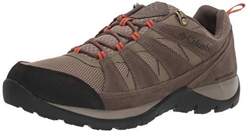 Columbia Men's Redmond V2 Waterproof Hiking Shoe, Pebble/Desert Sun, 7