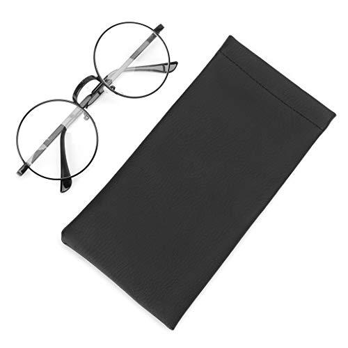 Lunji Sonnenbrille Tasche Brillenetui Leder, Sunglass Pouch & Brillentasche,Staubdicht & Wasserdicht, Automatisch schließen