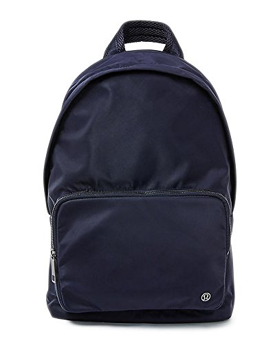 Lululemon Midnight Navy Water Resistant Laptop Book Bag Everywhere Backpack can carry 15' laptop