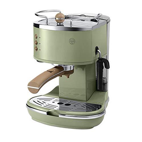 Máquina de café semiautomática retro bomba de presión italiana en casa crema de leche leche capuchino, Americana, máquina de café soplado con leche máquina de café con