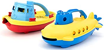 Green Toys Tug Boat & Submarine Combo Pack